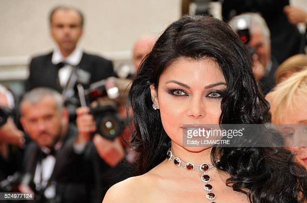 Lebanese singer Haifa Wehbe at the premiere of Le Silence de Lorna during the 61st Cannes Film Festival