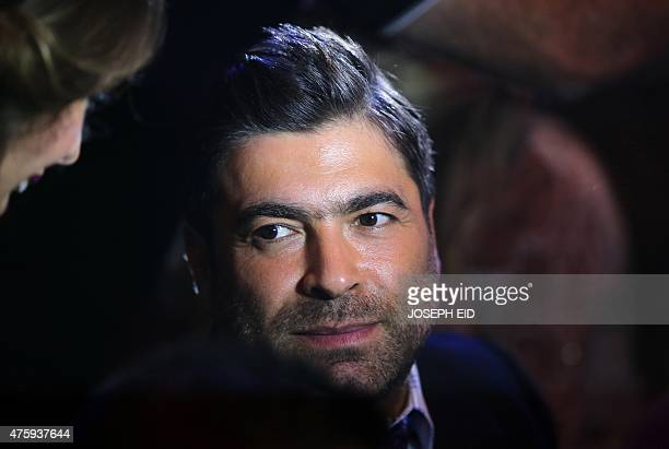 Lebanese singer Wael Kfoury attends the 15th annual Murex d'Or awards ceremony held at the Casino Du Liban in Maameltein north of Beirut on June 4...