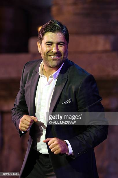 Lebanese singer Wael Kfoury performs at the Jarash Festival of Culture and Arts on July 30 2015 at the South Theatre of Jordan's ancient GreekRoman...