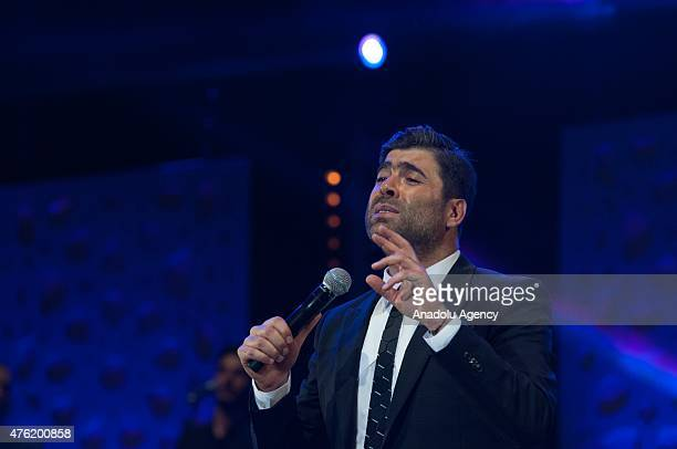 Lebanese singer Wael Kfoury performs on stage at Nahda Concert Hall during the 14th edition of the Mawazine International music festival in Rabat...