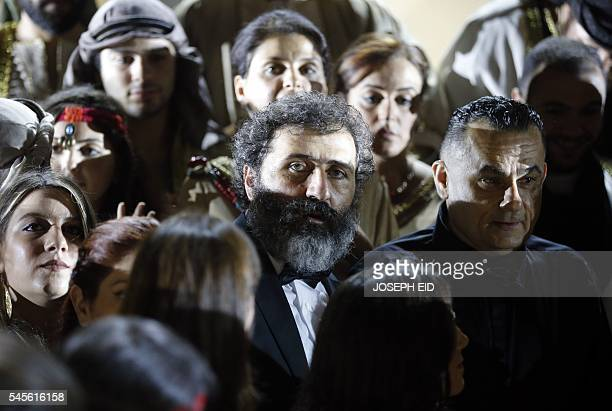 Lebanese Theatre Director Joseph Sassine is seen backstage prior to the performance of 'Antar and Abla' the first Lebanese opera in Arabic to be...