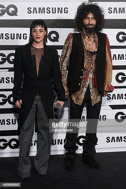 Lebanese violonist Ara Malikian and Natalia Moreno attend the GQ Men of The Year 2015 Awards at the Palace Hotel on November 5 2015 in Madrid Spain