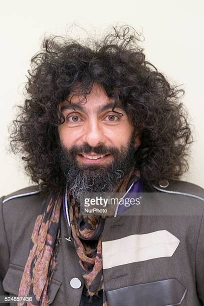 Lebanese violonist Ara Malikian plays for the press in Madrid on October 15 2015 during a promotional event following his Latin Grammy Awards...