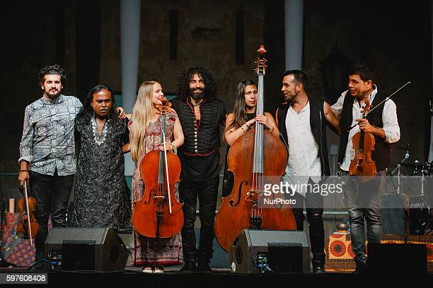 Lebanese violonist of Armenian descent Ara Malikian performs during the cultural summer nights at Cathedral square in Zamora northwest Spain on...