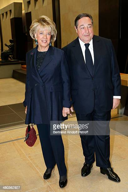 Lebaneseborn composer and poet Bechara ElKhoury and his wife Alexandra ElKhoury attend the dinner party of the Societe Des Amis Du Musee D'Orsay at...