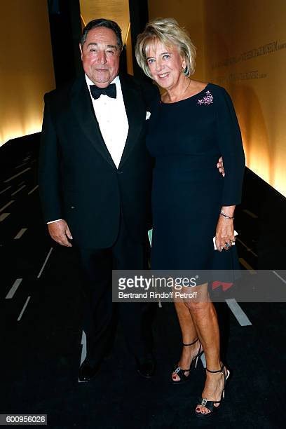 Lebaneseborn composer and poet Bechara ElKhoury and his wife Alexandra ElKhoury attend the 28th Biennale des Antiquaires PreOpening at Grand Palais...