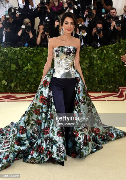 LebaneseBritish barrister Amal Clooney attends the Heavenly Bodies Fashion The Catholic Imagination Costume Institute Gala at The Metropolitan Museum...