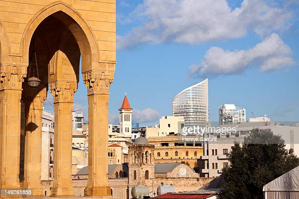 Lebanon, Beirut, Mohammad al Amin Mosque and downtown