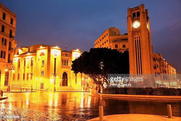 Lebanon, Beirut, Place d'Etoile with Parliament building