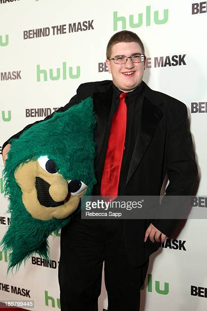 Lebanon High School's Rooty the Cedar Tree mascot Michael Hostetter at Hulu Presents The LA Premiere Of 'Behind the Mask' at the Vista Theatre on...