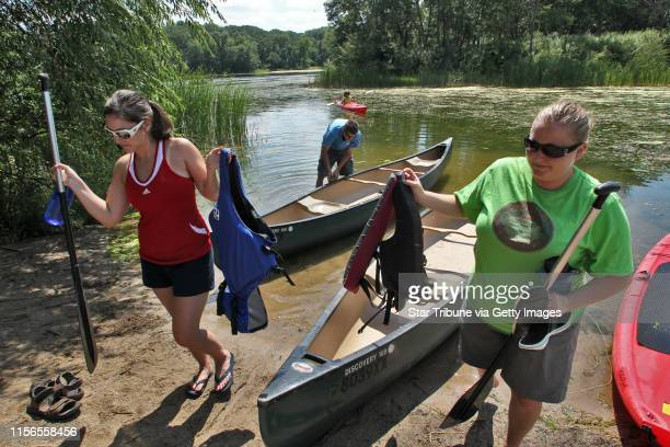 Lebanon Hills Regional Park in Eagan has a dozen lakes and ponds and offers rental canoes kayaks and paddle boards that you can paddle and portage...