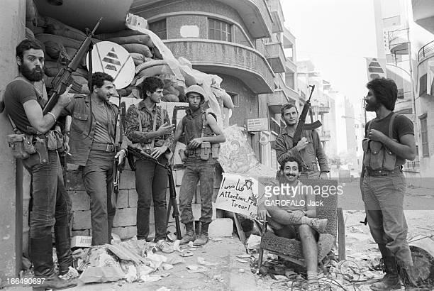 States Conflict With Syria Beyrouth 9 octobre 1978 Guerre du Liban conflit entre Israël la Palestine la Ligue des Etats arabes et la Syrie un groupe...