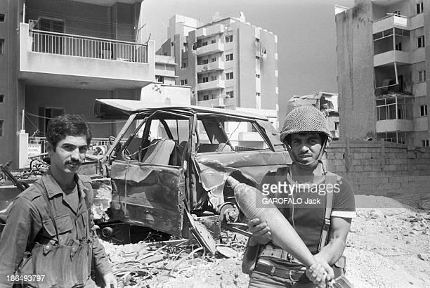 States Conflict With Syria Beyrouth 9 octobre 1978 Guerre du Liban conflit entre Israël la Palestine la Ligue des Etats arabes et la Syrie dans un...