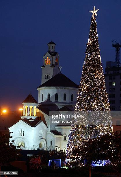 Lebanon's biggest Christmas tree in erected in downtown Beirut at the renovated square known as the Martyr's square that witnessed fierce battles and...