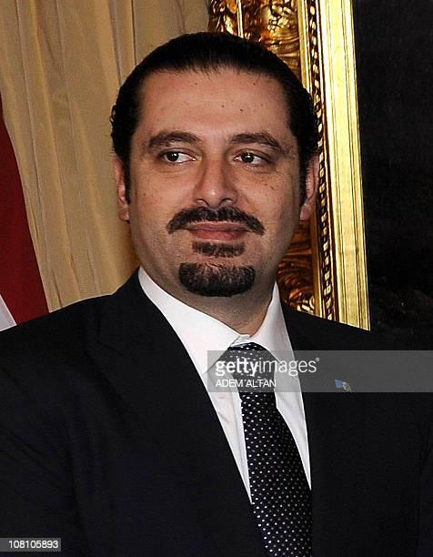 Lebanon's Prime minister Saad Hariri attends a meeting with his Turkish counterpart Recep Tayyip Erdogan in Ankara on January 14 2011 Hariri is in...