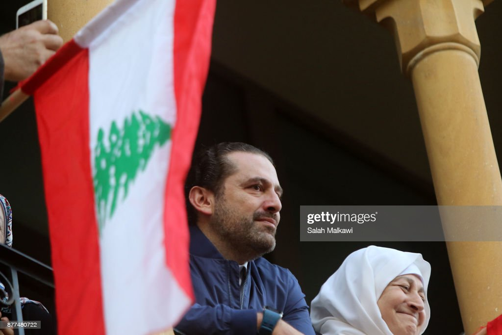 Lebanon's Prime Minister Hariri Makes Public Appearance At Home in Beirut : News Photo
