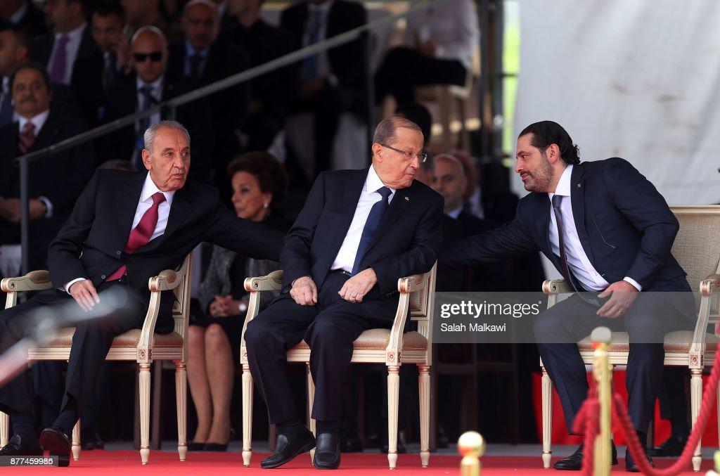 Lebanon's Prime Minister Hariri  Returns To Lebanon After Shock Resignation : News Photo