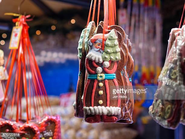 Lebkuchen for sale in Stuttgart Christmas Market, Germany.