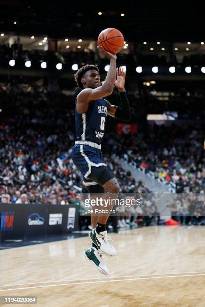 LeBron 'Bronny' James Jr #0 of Sierra Canyon High School shoots the ball during the Ohio Scholastic PlayByPlay Classic against St VincentSt Mary High...