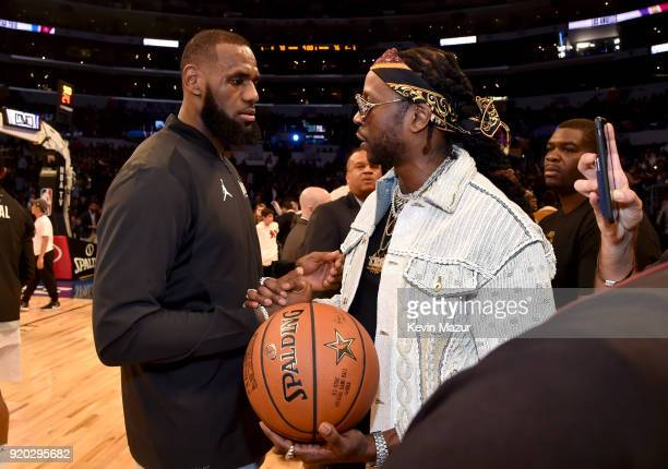 LeBron James and 2 Chainz attend the 67th NBA AllStar Game Team LeBron Vs Team Stephen at Staples Center on February 18 2018 in Los Angeles California