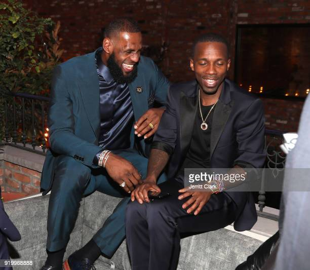 Lebron James and Agent Rich Paul attend the Klutch Sports Group More Than A Game Dinner Presented by Remy Martin at Beauty Essex on February 17 2018...