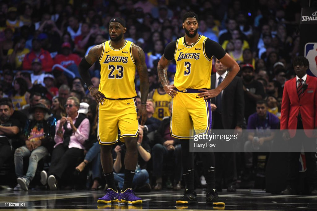 Los Angeles Lakers v Los Angeles Clippers : Nachrichtenfoto