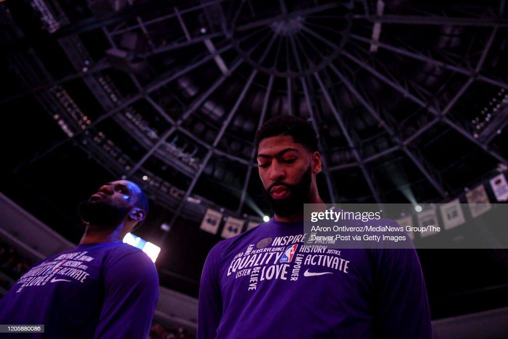 DENVER NUGGETS VS LOS ANGELES LAKERS, NBA REGULAR SEASON : Foto di attualità