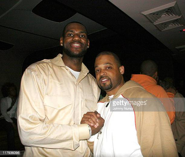 LeBron James and Eddie Jackson during LeBron James Post-Game After Party - April 5, 2006 at BED in New York City, New York, United States.