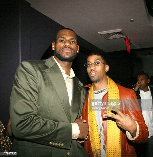 LeBron James and Fonzworth Bentley during LeBron James Post-Game After Party - April 5, 2006 at BED in New York City, New York, United States.