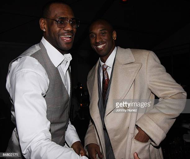 Lebron James and Kobe Bryant attend Sprite's 3rd Annual JayZ And Lebron James Two Kings Dinner After Party