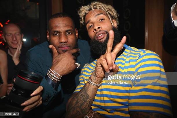 LeBron James and Odell Beckham Jr attend as Remy Martin presents Beats Party on February 17 2018 in Los Angeles California
