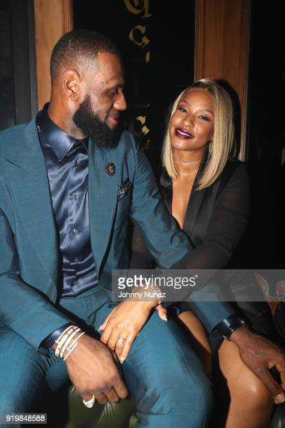 LeBron James and Savannah Brinson attend as Remy Martin presents Beats Party on February 17 2018 in Los Angeles California