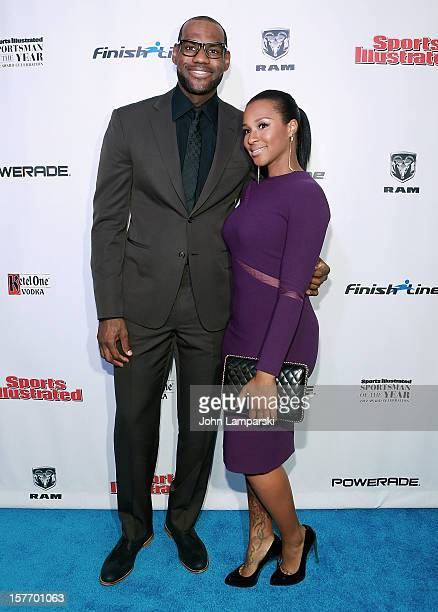 LeBron James and Savannah Brinson attend the 2012 Sports Illustrated Sportsman of the Year award presentation at Espace on December 5 2012 in New...
