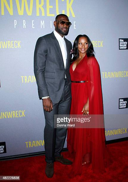 LeBron James and Savannah James attend the 'Trainwreck' World Premiere at Alice Tully Hall on July 14 2015 in New York City