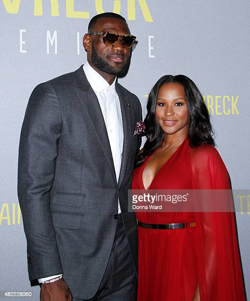 LeBron James and Savannah James attend the Trainwreck World Premiere at Alice Tully Hall on July 14 2015 in New York City