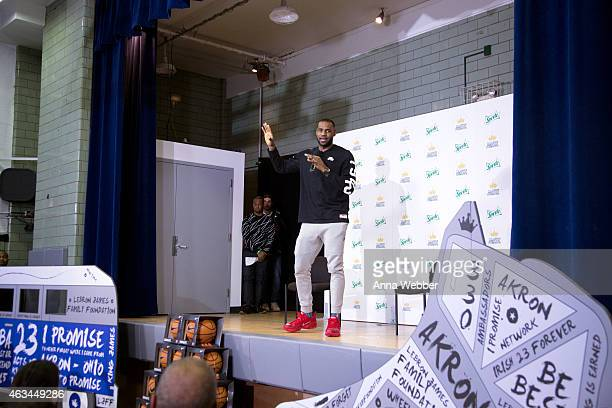 LeBron James and Sprite unveil the refurbished Boys Girls Club at Frederick Douglass Center in Manhattan on February 14 2015 in New York City