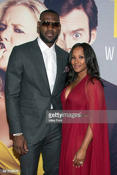 LeBron James and wife Savannah Brinson attend the 'Trainwreck' New York Premiere at Alice Tully Hall on July 14 2015 in New York City