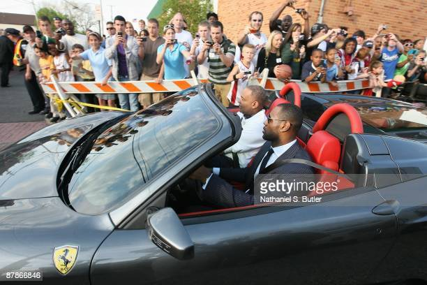LeBron James arrives to the 2008-2009 MVP Trophy presentation on Monday May 4th, 2009 at St. Vincent-St. Mary's High School in Akron, Ohio. NOTE TO...