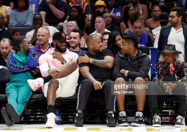 LeBron James attends the BIG3 Championship at Staples Center on September 01, 2019 in Los Angeles, California.