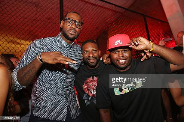 LeBron James DJ Irie and DJ Steph Floss attend LeBron James 11/11 Experience hosted by Nike on October 27 2013 in Miami Beach Florida