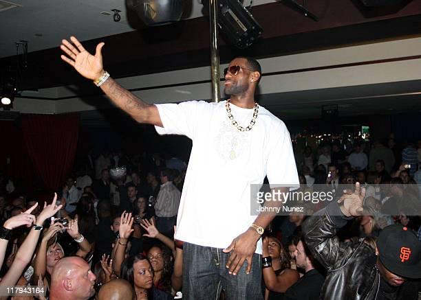 Lebron James during 2007 NBA All-Star in Las Vegas - Sprite Celebates Lebron James' Theme Song - February 16, 2006 at Light Nightclub Bellagio Resort...