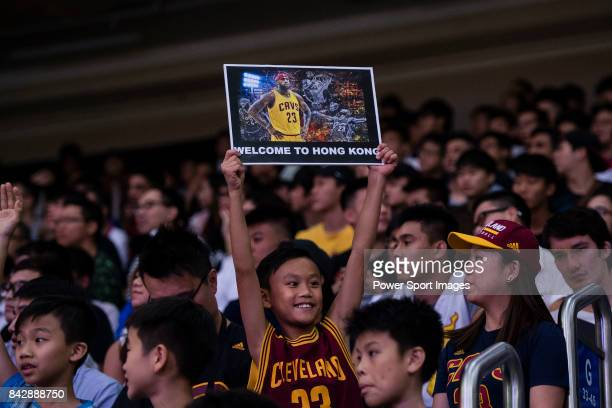 Lebron James fans during his appearance at the Rise Academy Challenge on September 5 2017 in Hong Kong Hong Kong