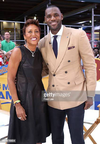 AMERICA LeBron James is a guest on 'Good Morning America' 8/18/16 airing on the ABC Television Network ROBIN
