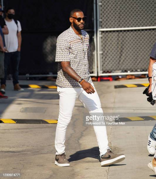 LeBron James is seen on July 13, 2021 in Los Angeles, California.