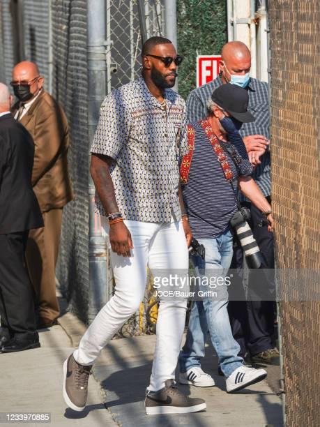 LeBron James is seen outside 'Jimmy Kimmel Live' on July 13, 2021 in Los Angeles, California.
