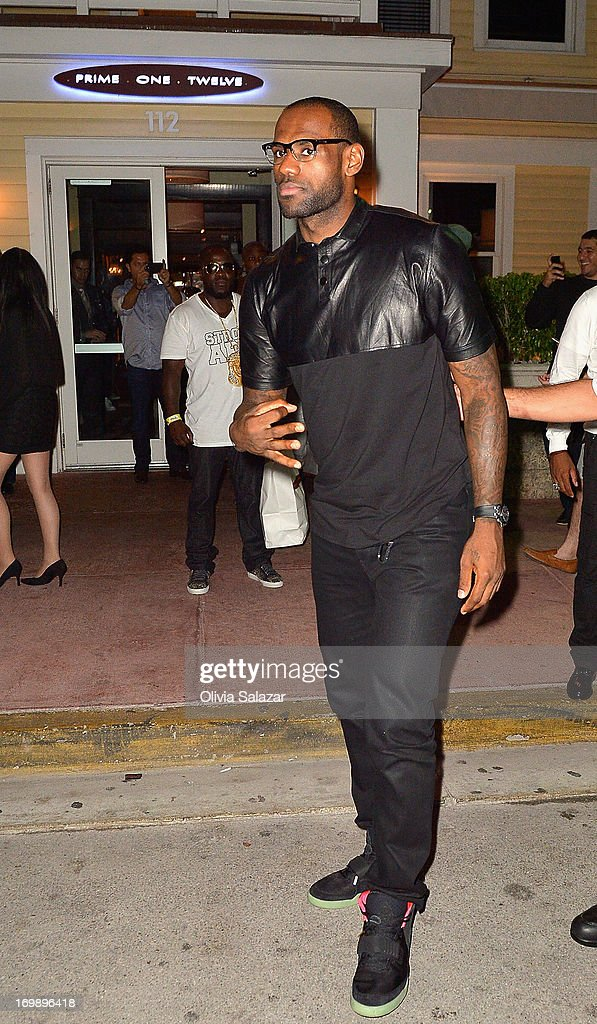 LeBron James is sighted at Prime 112 Steakhouse on June 3, 2013 in Miami Beach, Florida.