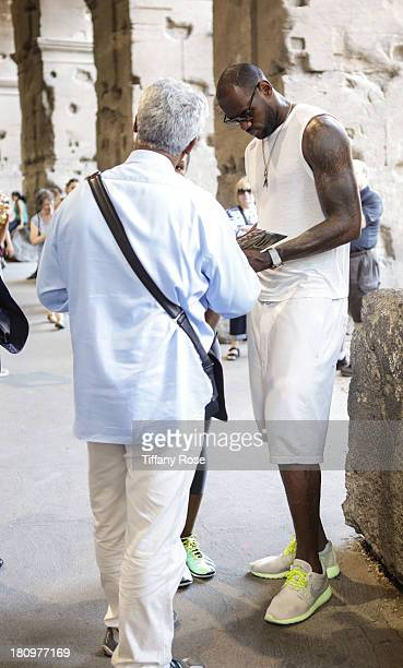 LeBron James is spotted on his honeymoon at The Colosseum on September 18 2013 in Rome Italy