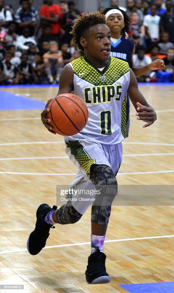 Lebron James Jr Drives To The Basket During Youth Tournament Action At The Charlotte Convention