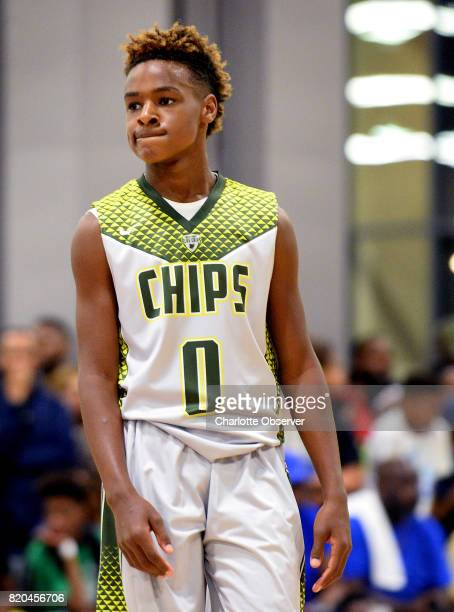 LeBron James Jr during youth tournament action at the Charlotte Convention Center in Charlotte NC on Friday July 21 2017