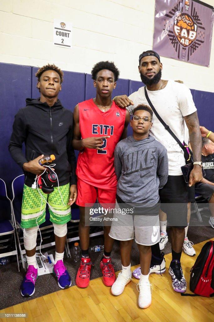 LeBron James and Dwyane Wade Watch Zaire Wade's AAU game : News Photo